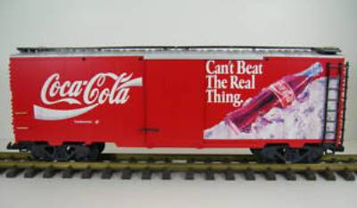 LGB 4291 Coke Can't Beat the Real Thing Boxcar G-Scale Wrong Box