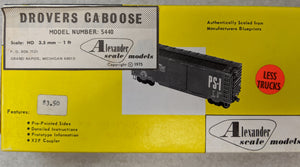 Alexander Scale Models HO scale 5440 Drover's Caboose