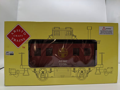 Aristo-Craft Art-46954 Track Cleaning Caboose - ATSF  G-Scale NIB