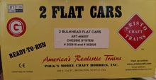 Load image into Gallery viewer, Aristo Craft 46409T 2 Bulkhead Flat Cars NIB