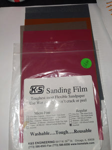 K&S Sanding film #4300 Assorted