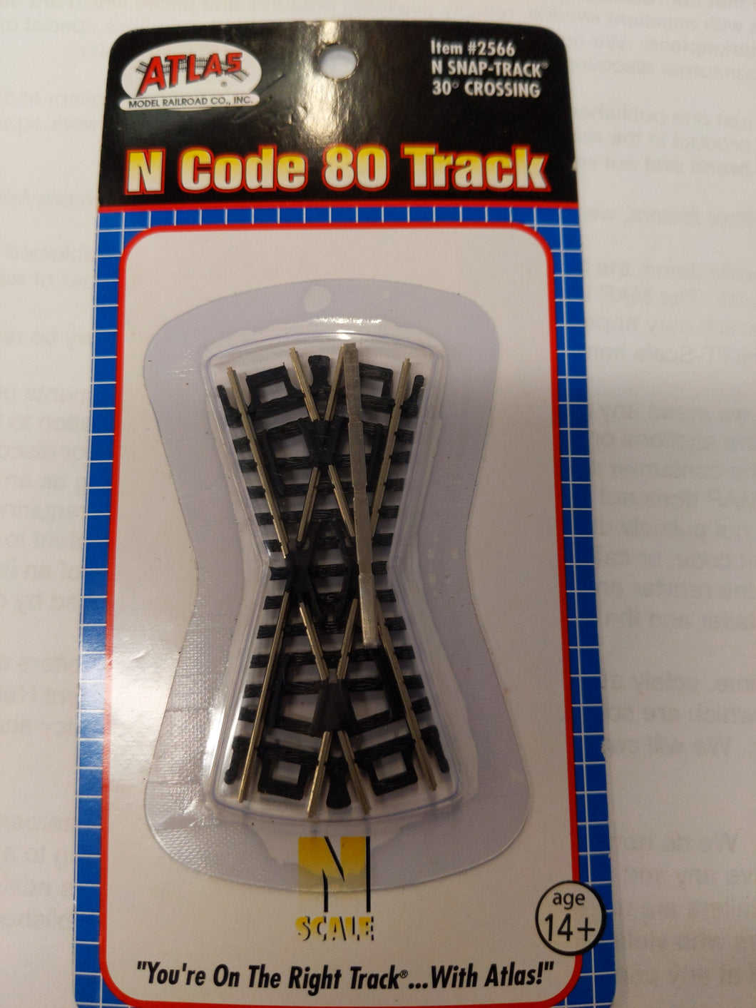Atlas 2566 N Code 80 Snap-Track 30 degree Crossing