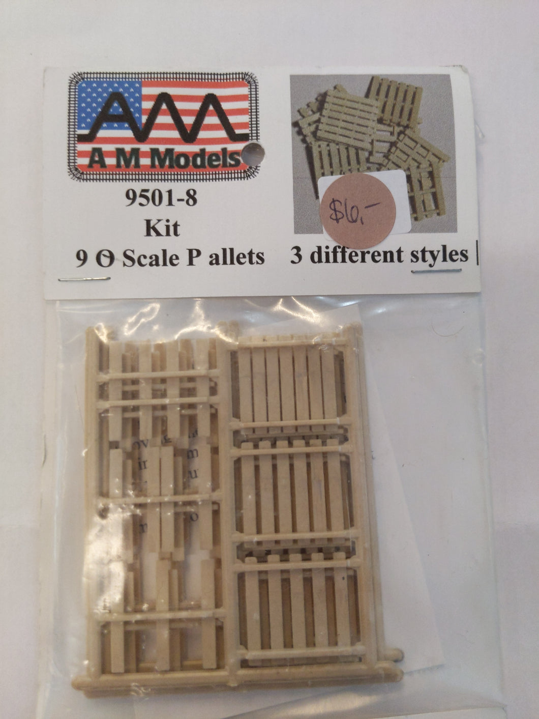 AM Models 9501-8 KIT O-scale Pallets (3)