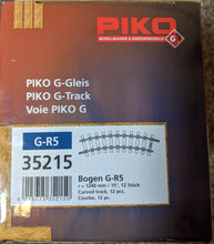 Load image into Gallery viewer, Piko 35215 (Box of 12) R5, 1240mm Radius Curve Track