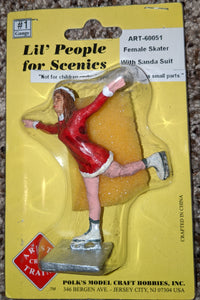 Aristo-Craft 60051 Female Skater with Santa Suit  New