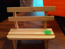 "Load image into Gallery viewer, Wooden Bench 33xC With back for Modeling 5"" wide"