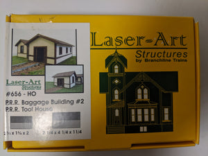 Laser Art 656 HO PRR Baggage Building #2 kit