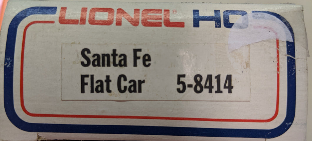 Lionel HO Scale SantaFe Flat Car 5-8414