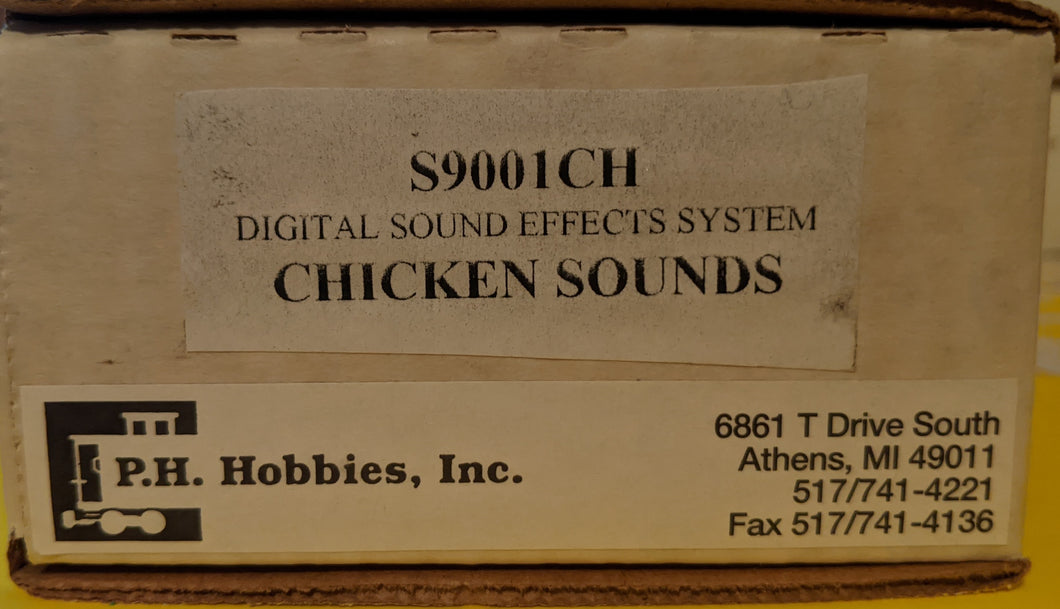 PH Hobbies S9001CH Digital Sound Effect System G-Scale Chicken Sounds