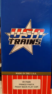 USA Trains r17029 Prince Pasta Piggy Back Flat Car NIB