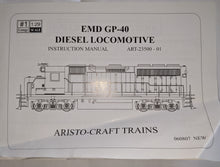 Load image into Gallery viewer, Aristocraft 23504 GP-40 Chessie B&O (3716) Diesel Loco VG Used