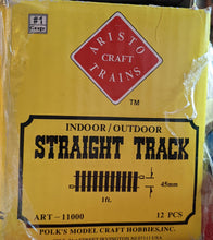Load image into Gallery viewer, Aristocraft Brass Straight Track 11 x 1 foot Sections. Used