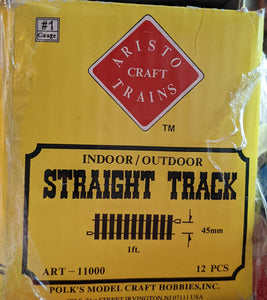 Aristocraft Brass Straight Track 11 x 1 foot Sections. Used