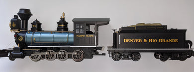 Aristocraft 80202 G Scale Denver & Rio Grande C-16, 2-8-0 Coal and Wood Burning Locomotive & Coal Tender NIB