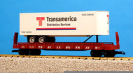 USA Trains r17017 Transamerica Piggy Back Flat Car NIB