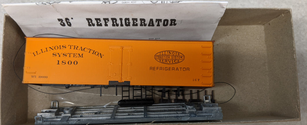 Roundhouse 3201 36' Refrigerator Car Illinois Traction