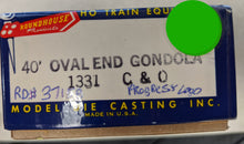 Load image into Gallery viewer, Roundhouse 1331 40' Oval End Gondola C&O #37158