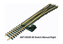 Load image into Gallery viewer, Aristo-Craft 20330 G #6 Stainless Steel Right Hand Switch Turnout G-scale