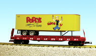 USA Trains r17030 Popeye Root Beer Piggy Back Flat Car NIB