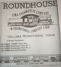 Load image into Gallery viewer, Roundhouse #193 HO-Scale Lima Promo Lot of 4