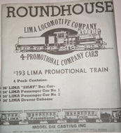 Roundhouse #193 HO-Scale Lima Promo Lot of 4
