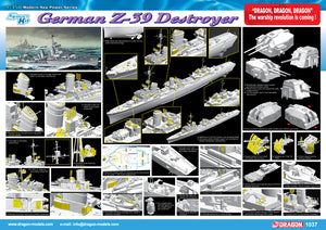1/350 German Z-39 Class Destroyer