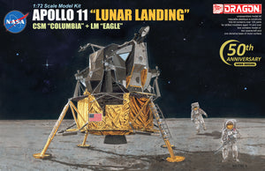 "1/72 Apollo 11 ""Lunar Landing"" CSM ""Columbia"" + LM ""Eagle"""