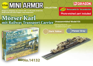 1/144 Mörser Karl mit Railway Transport Carrier (with bonus parts version)