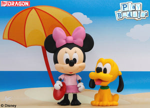 Disney Play Buddies Collection - Summer Vacation Series (Minnie with Pluto @ Frisbee) Playset