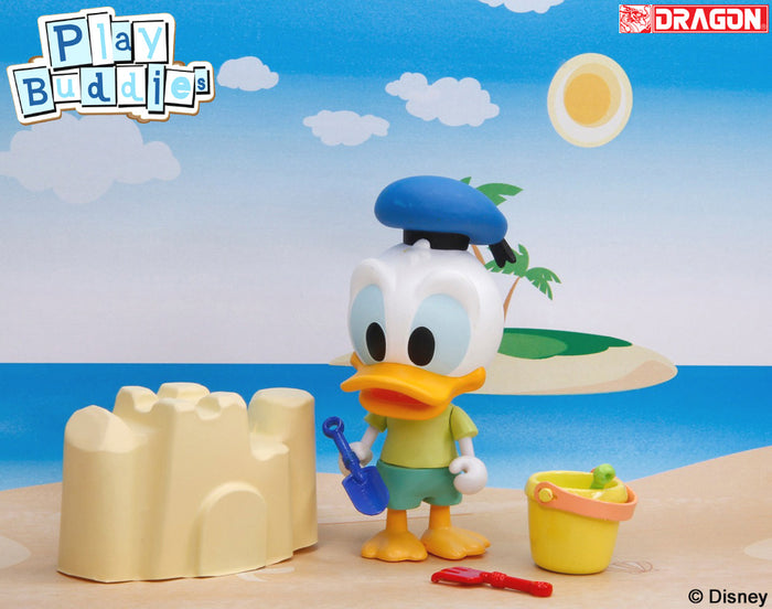 Disney Play Buddies Collection - Summer Vacation Series Donald @ Sandcastle) Playset