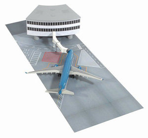 1/400 Airport Terminal Set C - Vietnam Airlines A330-300, Terminal Building Section (Curve) with Jetway Bridge and Runway Tarmac
