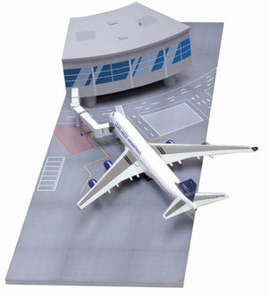 1/400 Airport Terminal Section with Aerolineas Argentinas 747-400 (Curve Terminal Section)