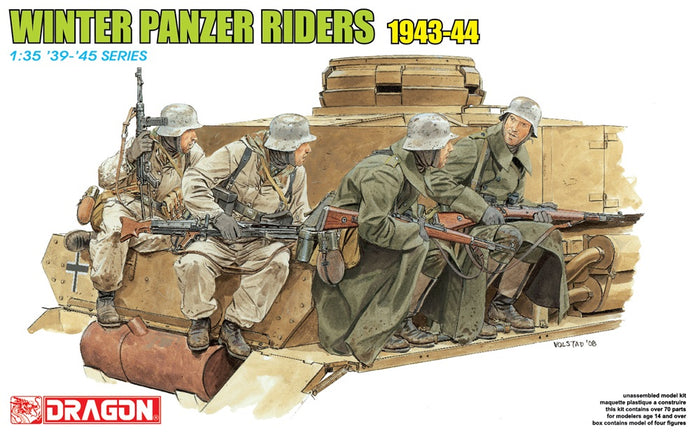 1/35 WINTER PANZER TANK RIDERS 1943-44