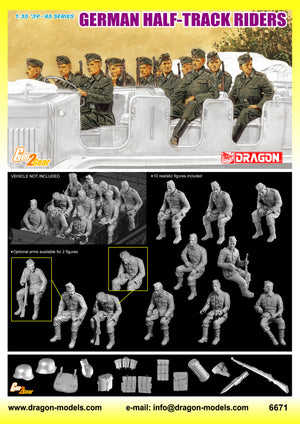 1/35 German Half-Track Riders (10 Figures Set)