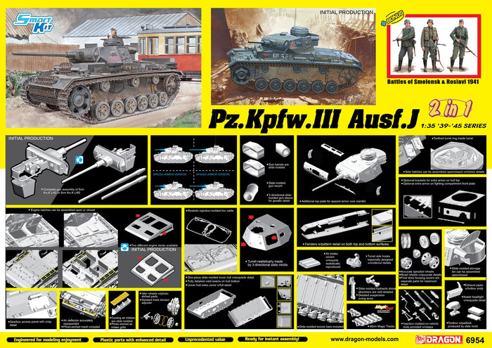 1/35 Pz.Kpfw.III Ausf.J Initial Production / Early Production (2 in 1) [Bonus Version]
