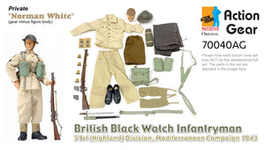"1/6 Dragon Original Action Gear for Private ""Norman White"" British Black Watch Infantryman 51st (Highland) Division, Mediterranean Campaign 1943"