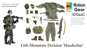 "1/6 Dragon Original Action Gear for Schutz ""Arnold"", 13th Mountain Division 'Handschar'"