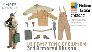 "1/6 Dragon Original Action Gear for ""MAC"", US Army Tank Crewman 3rd Armored Division"