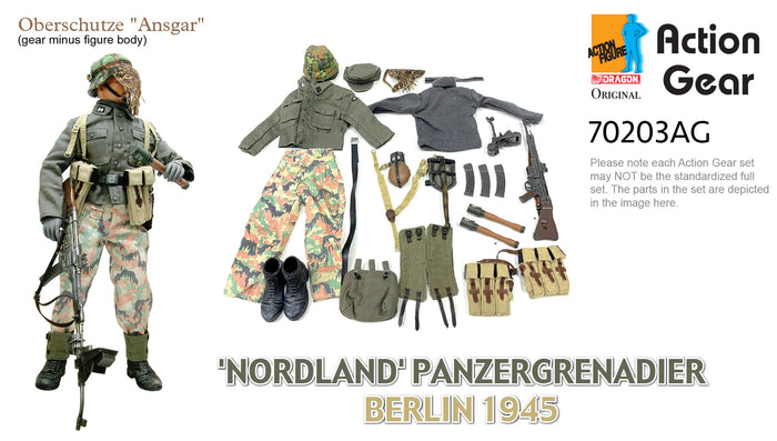"1/6 Dragon Original Action Gear for Oberschutze ""Ansgar""'NORDLAND' PANZERGRENADIER BERLIN 1945"