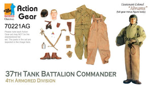 "1/6 Dragon Original Action Gear for Lieutenant Colonel ""Abrams"" 37th Tank Battalion Commander 4th Armored Division"