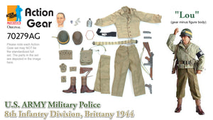 "1/6 Dragon Original Action Gear for ""Lou"", U.S. Army Military Police, 8th Infantry Division, Brittany 1944 (Corporal)"