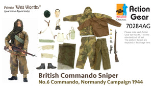 "1/6 Dragon Original Action Gear for Private ""Wes Worthy"", British Commando Sniper, No.6 Commando, Normandy Campaign 1944"