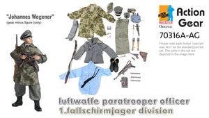 "1/6 Dragon Original Action Gear for ""Johannes Wegener"" Iuftwaffe paratrooper officer 1.fallschirmjager division"