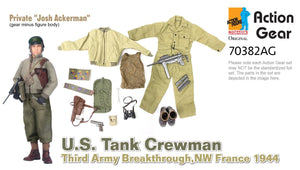 "1/6 Dragon Original Action Gear for Private""Josh Ackerman"", U.S. Tank Crewman, Third Army Breakthrough, NW France 1944"