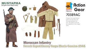 1/6 Dragon Original Action Gear for MUSTAPHA, Moroccan Infantry, French Expeditionary Corps Monte Cassion 1944
