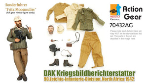 "1/6 Dragon Original Action Gear for Sonderfuhrer ""Fritz Moosmuller"", DAK Kriegsbildberichterstatter, 90.Leichte-Infanterie-Division, North Africa 1942"