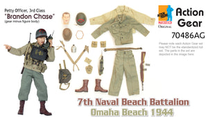"1/6 Dragon Original Action Gear for ""Brandon Chase"", U.S. Navy Signalman, 7th Naval Beach Battalion, Omaha Beach 1944 (Petty Officer, 3rd Class)"