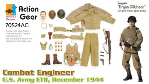 "1/6 Dragon Original Action Gear for Sergeant ""Bryan Gilkinson"", Combat Engineer, U.S. Army ETO, December 1944"