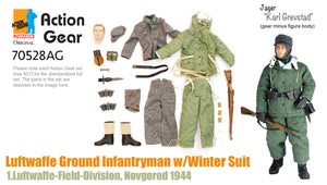 "1/6 Dragon Original Action Gear for ""Karl Grevstad"", Luftwaffe Ground Infantryman w/Winter Suit, 1.Luftwaffe-Field-Division, Novgorod 1944 (Jager)"