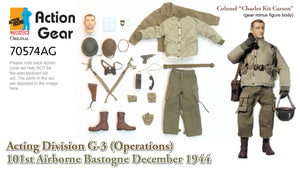 "1/6 Dragon Original Action Gear for Colonel ""Charles Kit Carson"" Acting Division G-3 (Operations) 101st Airborne Bastogne December 1944"